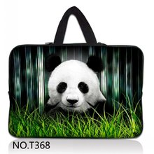 Panda Neoprene 5/ 7/ 10/ 11/ 12 /13 14/ 15/ 17 Inch Laptop Sleeve Bag Handle Bag Netbook Inner Pouch Computer PC bag(China)
