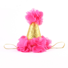1PC Lovely Girls Boys Birthday Headwear Headband Party Hair band Gold Crown Hat XMAS Gifts Festival Headwear Lovely Gift Chiffon