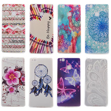 Beautiful Soft TPU Phone Back Cover For Huawei P9 Lite/Y3 II/Y5 II/Y6 II Silicone Cases with Flower Butterfly Folk Style Hood