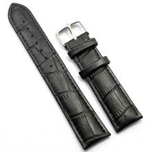 18/20/22/24/26mm Watchband Genuine Black/Brown Leather Bracelet Pin buckle Strap for Men Women Watches PD020(China)