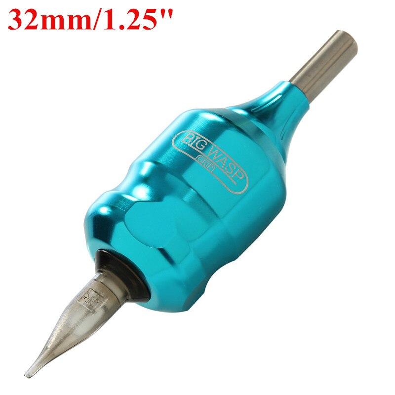 BIGWASP Professional High Quality Blue Tattoo Adjustable Cartridge Grip 32mm For Cartridge Needles Supply -- HG-006-32MM-BE<br>