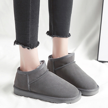 발목 길이 눈 Boots Women Winter 봉 제 웜 화 Black Gray Brown 빛 눈 Boots Fashion 숙 녀 Warm Fur Winter 부츠(China)