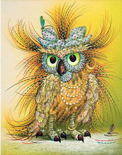 15D DIY Diamond Owl 4 Colors All Diammond Pet Embroidery 3D Cross Stitch Kit New Listing Sewing Card BB1890