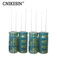 1000UF 35V 10X20mm Capacitor 35V1000UF High Frequency Low Esr Long Life LCD Power Supply SANYO Electrolytic Capacitor 50pcs