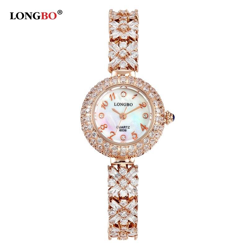 LONGBO Brand 2017 New Luxury Women Watch Full Steel Rhinestone Watch 30M Waterproof Ladies Fashion Casual Clock Relogio Feminino<br><br>Aliexpress