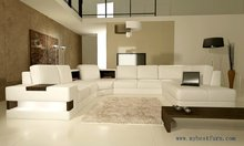 Free Shipping European Design, U shaped genuine leather sofa set, modern best living room furniture S8630(China)