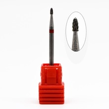 1PCS 2.35mm Cuticle Clean Bit Art Salon Electric Drill Ceramic Nail Drill Bit For Nail Tools High Quality(China)