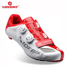 sidebike carbon road bike shoes lock cycling shoes men racing road bike trek bicycle sneakers professional athletic breathable(China)