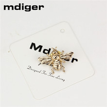 Mdiger Casual Bee Brooch Shirt Collar Clip Jewelry Needles Collar Tips Men's Suits Lapel Pin for Wedding Business Buttons
