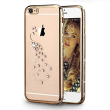 Luxury Gold Bling Glitter Diamond Phone Case For iPhone 7 6 6S Plus 5s SE Soft Cover Back For iPhone 6 7 6S 5S Case
