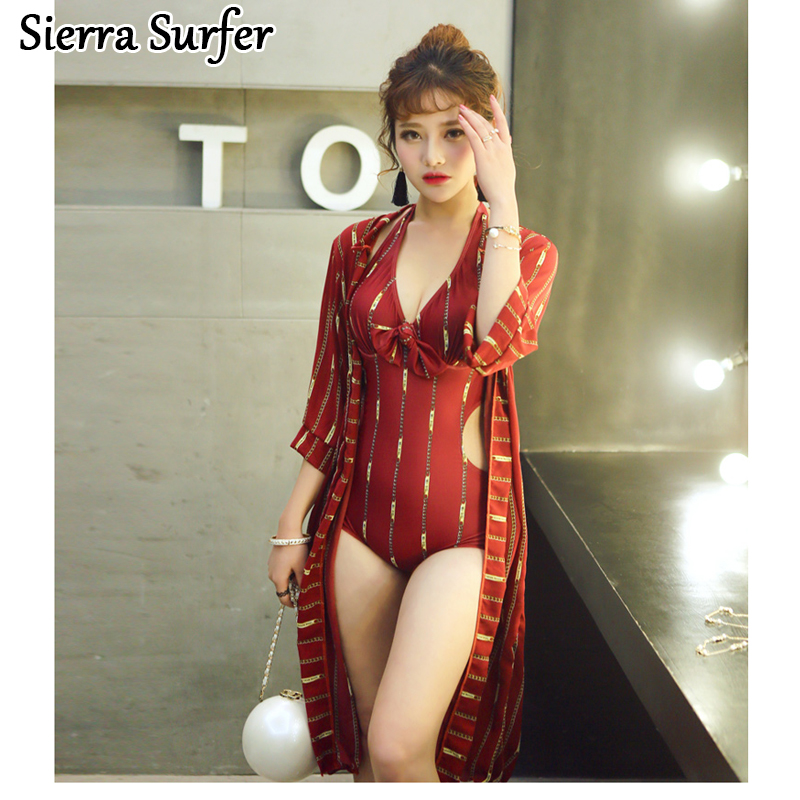 Swimming Suit For Women Bodysuit Trikinis Swimsuits Womens Sexy Plus Size Bikinis One Piece Swimsuit 2018 New Woman Print Large<br>