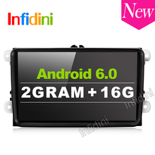 2G+16G Android 6.0 car dvd player gps navigation car gps radio video player 2 din in dash for vw tiguan polo golf touran EOS
