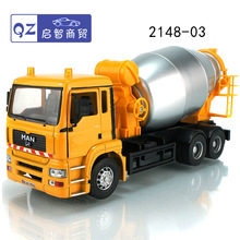 Free shipping high quality junji brand diecast engineering car model toy big size 1:32 Concrete mixing truck mixer car in box