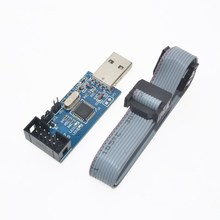 USBasp USB ISP 3.3V / 5V AVR Programmer USB ATMEGA8 ATMEGA128 New +10PIN Wire Support Win7 64Bit(China)