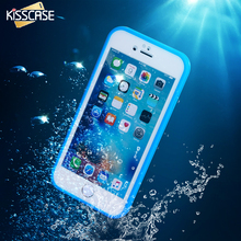 KISSCASE For iPhone 5 5S SE Diving Case Hybrid Rubber Waterproof Touch Screen Phone Cover For iPhone 7 Plus 5 5S SE i6 6S Plus