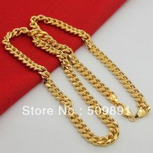 NE1538 Customized Jewelry New Fashion 6.5mm Width Mens Chains Necklace 24k Gold Vacuum Plating Most Popular Party Gifts
