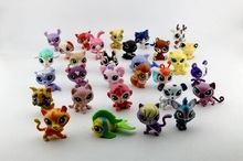 LPS lps Toy bag 50Pcs Pet Shop Animals Cats Kids Children Action Figures PVC LPS Toy Birthday/Christmas Gift 5-6cm