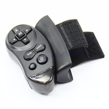1pc Black Car Universal Steering Wheel Remote Control Learning For Car CD DVD VCD
