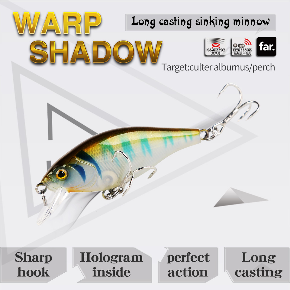 Kingdom Lifelike Floating Minnow Fishing lures 5.5cm 6.5g VMC Hooks Fish Wobbler Tackle Crangkbait Artificial Hard Bait Model 7501 (1)