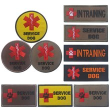 Outdoor Tool Service Dog Vest Dog Harness Label Self-Sticker Removable Pet Therapy Dog Tags Sticker 6 Styles