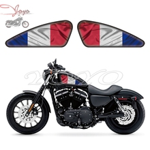 France Flag Graphics Fuel Tank Decals Stickers For Harley Sportster XL 883 1200 X/V/R/N/L/C Iron Forty Eight Seventy Two