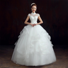 2015 summer wedding dress style of South Korea led seven words shoulder princess tutu vintage backpack