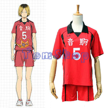 Haikyuu!! Nekoma High School #5 Kenma Kozume Cosplay Costume Jersey Sports Wear Uniform Size M-XXL Free Shipping(China)