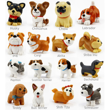 16 Pcs/Set Kawaii resin miniature Puppy mini cartoon Dogs figurines Animal ornaments table decoration Home decor Garden ornament(China)