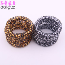 Fashion  transparent silicone hair band hair  jewelry hair band leopard print telephone wire band hair extension HOT SALES!!!