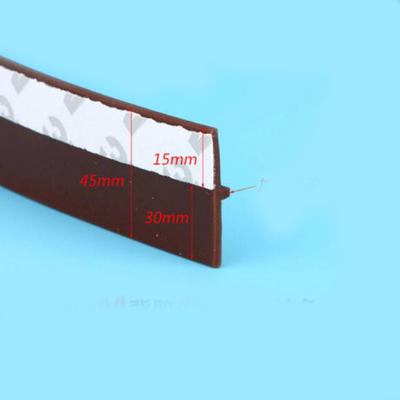 45mm width self adhesive silicone rubber door window bottom seal strip<br><br>Aliexpress
