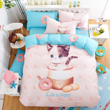 4 pcs/set bedding sets 100% cotton Cartoon reactive printing style sheets Bedding cover pillow cover
