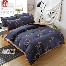 2019 New sheet, pillwocase& Duvet Cover Set WHALE Bedding Set Pinetree Bed Set Black White Bed Linen Set Wholesale Home Bedding(China)