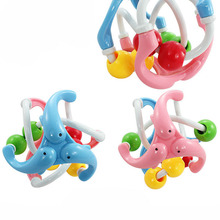 Hot Baby Toy Fun Loud Jingle Ball Baby ball toy rattles Develop Baby Intelligence Baby Grasping toy Train Grasp ability P15(China)