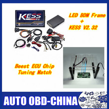 KESS V4.036 V2.32  + LED BDM FRAME Used Online ECU Programmer OBD2 Manager Tuning Kit For Car/Truck/Tractor with free shipping