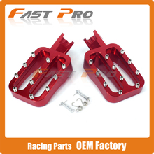 Red CNC Foot Pegs Pedals Rests For Lucky MX Thumpstar Explorer Braaap Atomic Pitpro Pitster Pro Pit Dirt Bike