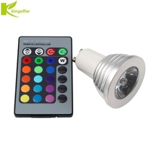 Kingoffer E27 E14 GU10 LED 16 Color Changing Magic Light Bulb Lamp 85-265V 110V  220V RGB Led Spot light + IR Remote Controller