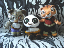 Original Collection Kung Fu Panda Tigress TAI LUNG Viper Mini Cute Soft Plush Toy Doll Birthday Children Gift
