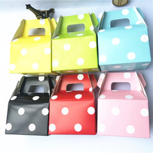 12pcs/lot (Pack of 12) Colorful Polka Dots Printed Paper Horn Candy Boxes Treat Bags Wedding Birthday Kids Party Decorations