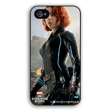 2015 hot selling mobile phone cover for Apple iPhone 6 6s plus 4 4s  5 5c 5s case Avengers Hero Black Widow Natasha Natalia