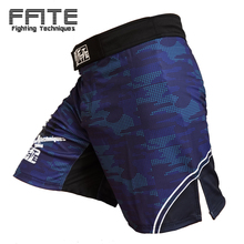 FFITE Men's Boxing Pants MMA Shorts Fight Grappling Short Polyester Kick Gel Boxing Muay Thai Pants Thai Boxing Shorts Mma(China)