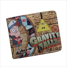Anime Gravity Falls Mabel Pines Dipper Pines Movies Supernatural The Walking Dead PU Short Wallet High Quality PU Short Purse