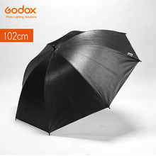 "Godox 40"" 102cm Reflector Umbrella Photo Studio Flash Light Grained Black Silver Umbrella(China)"