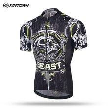 Xintown 2018 Skull Short Sleeve Cycling Jersey Men mtb Bike Jersey Shirt Racing Sport Bicycle Cycling Clothing Maillot Ciclismo