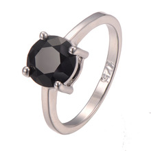 Classic Style Black onyx 925 Sterling Silver Wedding Party Fashion Design Romantic Ring  Size 5 6 7 8 9 10 11 12 PR28