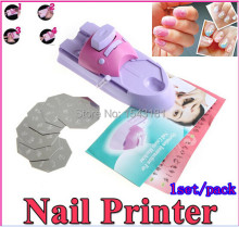 Nail Art Printing Machine DIY Color Printing Machine Polish Stamp 6 Pcs Pattern Template Kit Set Digital Printer stamping plate(China)