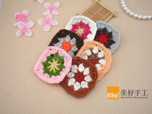 2015 new arrival 8cm square 30 pic/lot cotton crochet lace doilies coaster for table decor cup pad pot holder placemat pad
