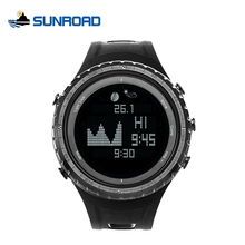 SUNROAD Top Brand Luxury Fishing Watches Men Smart Tide Digital Thermometer Pedometer Blacklight LCD Outdoor Sports Wristwatches(China)