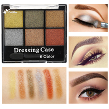 5 Colors High Pigments Shimmer Glitter Eye Shadow Make Up Waterproof Nude Eyeshadow Palette Brush Sets