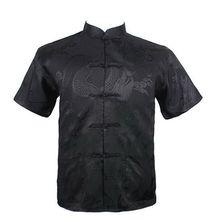 Men New Arrival Shirt Chinese Tradition Style Dragon Pattern Kung Fu Short Sleeve Shirts M-L-XL-XXL-3XL(China)
