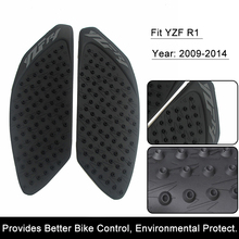 For Yamaha YZF R1 2009 2010 2011 2012 13 14 Motorcycle Anti slip Tank Pad 3M Side Gas Knee Grip Traction Pads Protector Sticker(China)